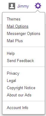 Yahoo!'s Mail Options